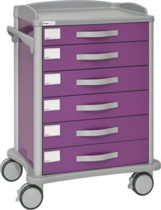 Multifunctional hospital trolley - 6 drawers