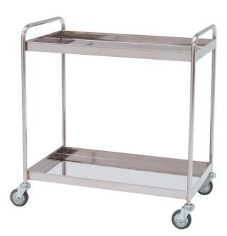 Distribition trolley made out of stainless steel - 2 shelves - 95x50x95 cm