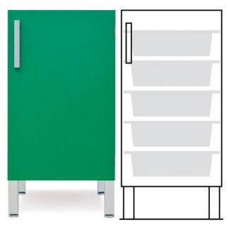 Floor cabinet - ISO-modul - 1 wall and 9 baskets