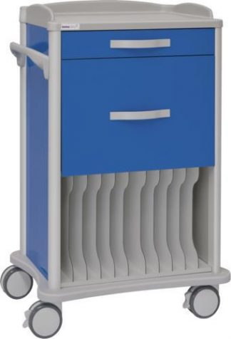 Multifunctional hospital trolley - 1 1 drawers - 11 compartment for X-ray (360x430 mm)