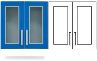 Wall cabinet - ISO-modul - 2 glass doors