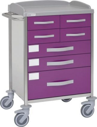 Multifunctional hospital trolley with 1 shelves - 7 drawers