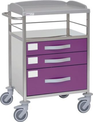 Multifunctional hospital trolley with 2 shelves - 3 drawers