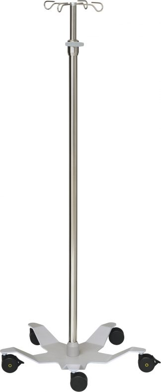 IV-pole and infusion pump - 4 hooks - Tube diameters 33/25 mm - Design base