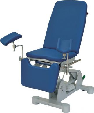 Electrical gynecological examination chair with wheels