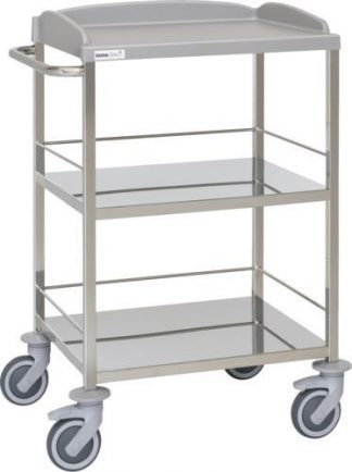 Multifunctional hospital trolley - 3 shelves
