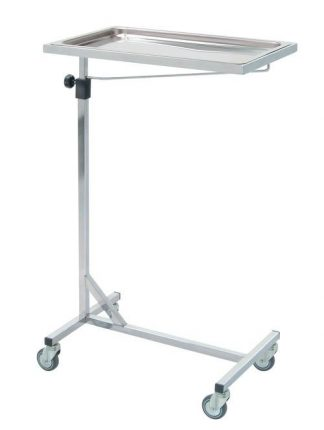 Side trolley with wheels - Mayo - Chrome