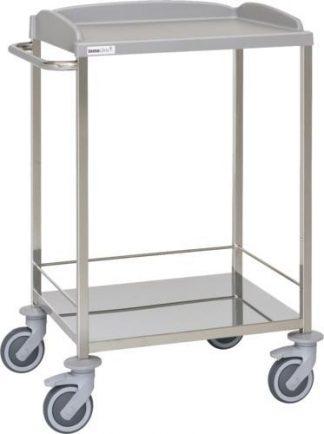Multifunctional hospital trolley - 2 shelves