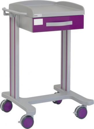 Multifunctional hospital trolley with 1 shelves - 1 drawer
