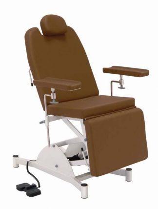 Electrical sampling chair with adjustable armrests