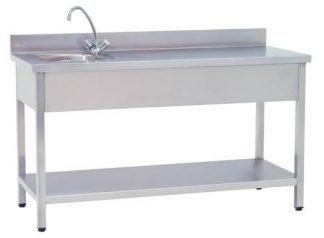 Work table with sink 150x60x85 cm
