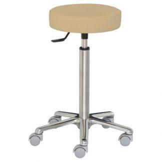Round chair with aluminium base