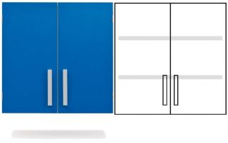 Wall cabinet - ISO-modul - 2 doors and 2 adjustable shelves