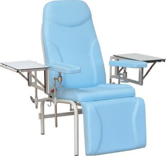Sample chair with adjustable armrests - 2 retractable side tables