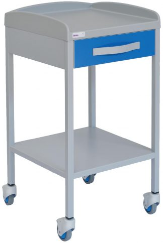 ECG trolley with 1 shelves - 1 drawer