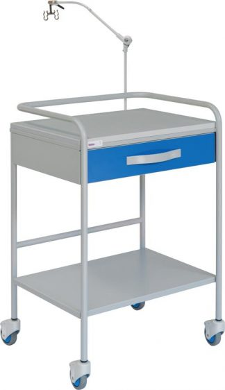 ECG trolley with 1 shelves - 1 drawer - wire hanger