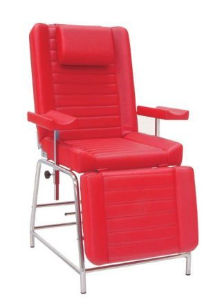 Stationary sampling chair with adjustable armrests - Pillow