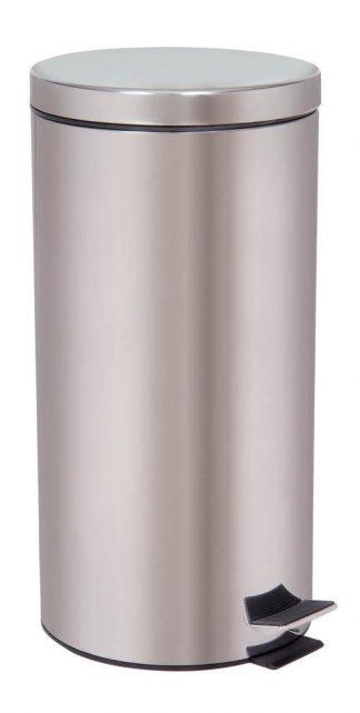 Waste basket with foot pedal - 30 Litres - Stainless steel