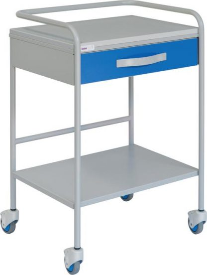 ECG trolley with 1 shelves - 1 drawer - With protective rails
