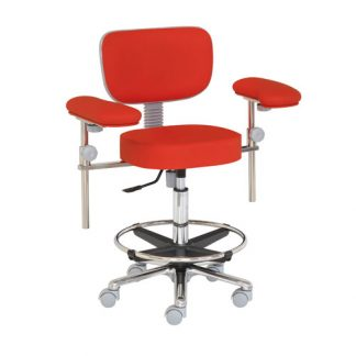 Surgical chair / surgery chair with foot and armrests - Aluminium base