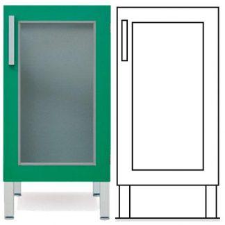 Floor cabinet - ISO-modul - 1 glass door