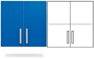 Wall cabinet - ISO-modul - 2 doors and 1 adjustable shelf