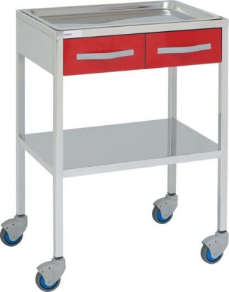 Instrument table with 2 shelves - 2 drawers