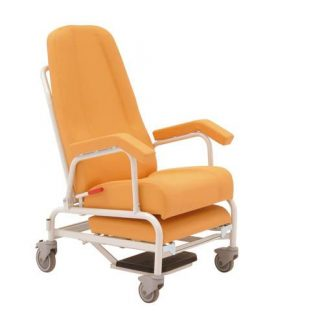Resting chair with armrests and wheels - Extra legrests