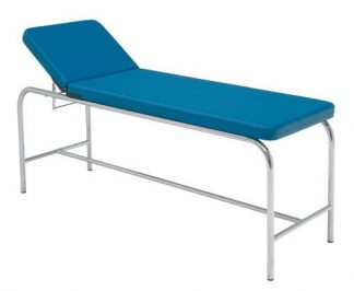 Stationary treatment table - 2 sections - Chromed steel