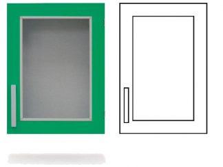 Wall cabinet - ISO-modul - 1 glass door