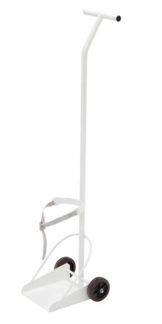 Oxygen trolley - Max diameter with oxygen container: Ø 110mm