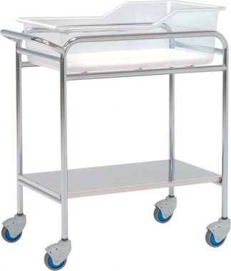 Infant bed for neonatology - Chromed steel structure - 80x48x85 cm