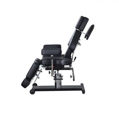 Hydraulic examination chair customised for tattoo - 3 sections