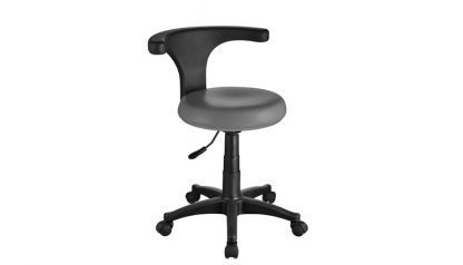 Foot podiatry chair with backrest