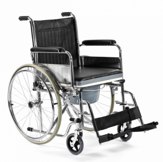 Foldable wheelchair with toilet function