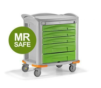 Non magnetic trolley for X-ray rooms - Plastic frame