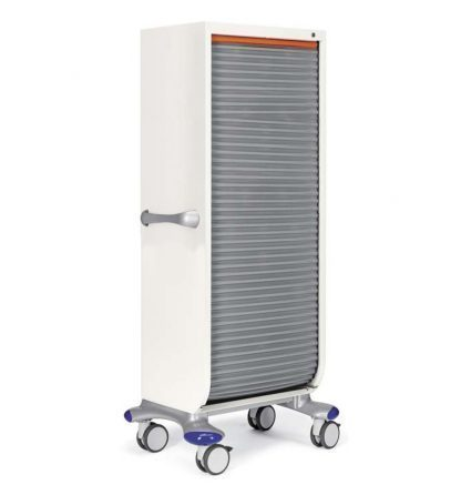 Medial care logistics trolley made out of aluminium