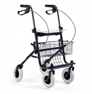 Walker made out of steel with 4 wheels