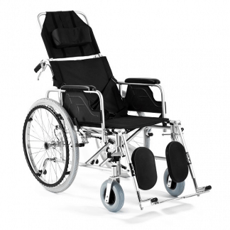 Foldable wheelchair with Aluminum frame - Adjustable backrest