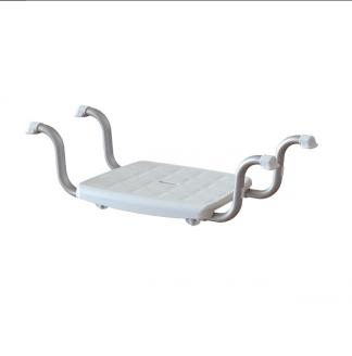 Bathtub bench with anti-slip tips - Seat area: 37x30 cm