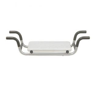 Bathtub bench with anti-slip tips - Seat area: 41x23 cm