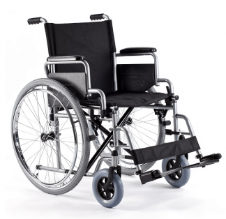 Foldable wheelchair with steel frame - Belt and easily detachable wheels