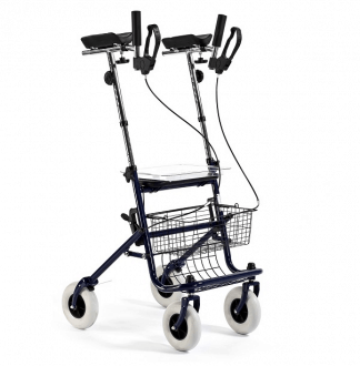Walker made out of steel with 4 wheels - Elbow support