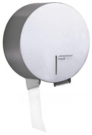 Dispenser for toilet paper - Ø230mm for industrial paper rolls - Satin
