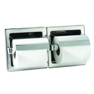 Toilet paper holder (2 pcs) in stainless steel (AISI 304) - For installation