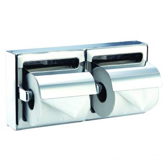 Toilet paper holder (double) in stainless steel (AISI 304)