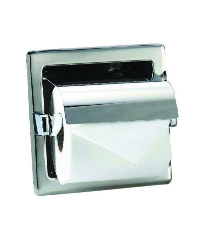 Toilet paper holder in stainless steel (AISI 304) - 160 x 160 x 120 mm