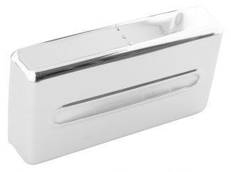 Dispenser for serviettes made out of chromed brass