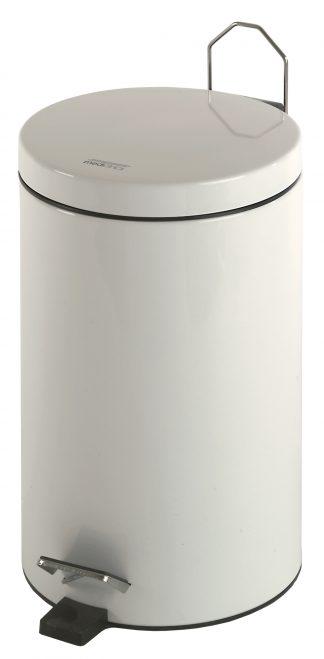 Cylinder shaped waste basket with pedal - 12 Litres