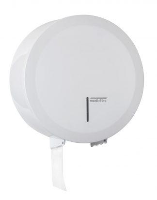 Dispenser for toilet paper - Ø230mm for industrial paper rolls - White